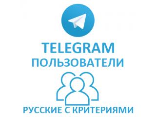 Telegram - Подписчики Русские с критериями (пол) (129 руб. за 100 штук)