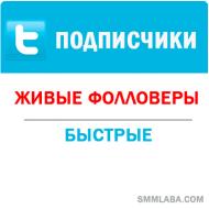 Twitter - Подписчики/фолловеры (10 руб. за 100 штук)