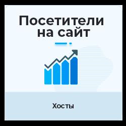 Посетители на сайт - Уникальные посещения (хосты) русскоязычные