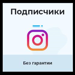 Instagram - Подписчики (без гарантии)